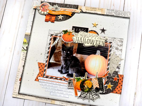 Jana Eubank Simple Stories Happy Halloween Kitty Layout 5 600