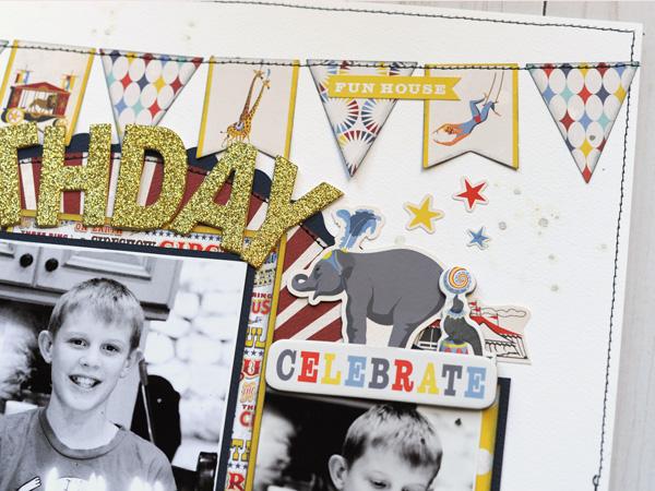 Jana Eubank Carta Bella Paper Circus Bday Wish Layout 3 600