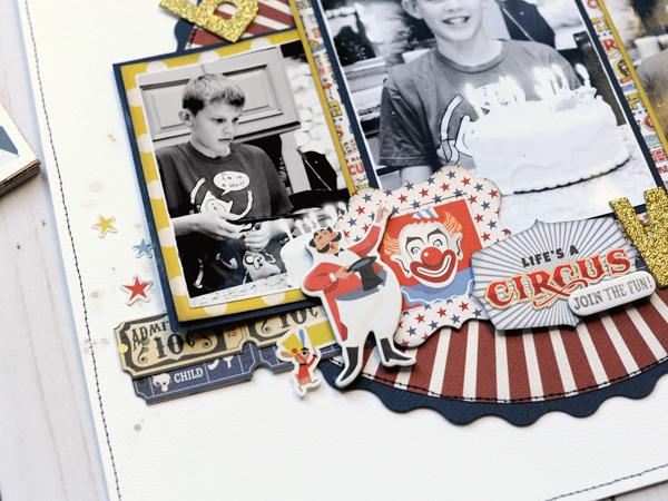 Jana Eubank Carta Bella Paper Circus Bday Wish Layout 4 600