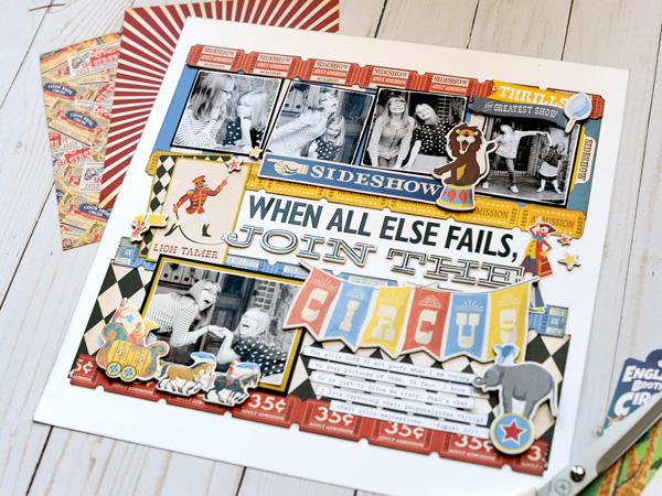 Jana Eubank Carta Bella Paper Circus Join the Circus Layout 6 600