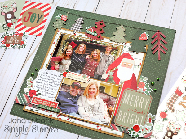 Jana Eubank Simple Stories Merry and Bright Layout 6 600