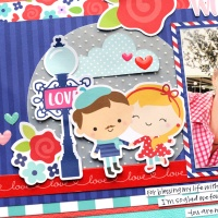 Doodlebug Design: French Kiss Layout