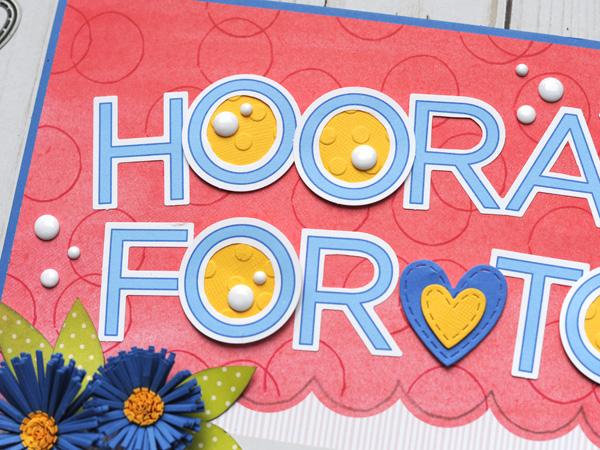 Jana Eubank Close to My Heart Craft with Heart January Hooray Layout 2 600