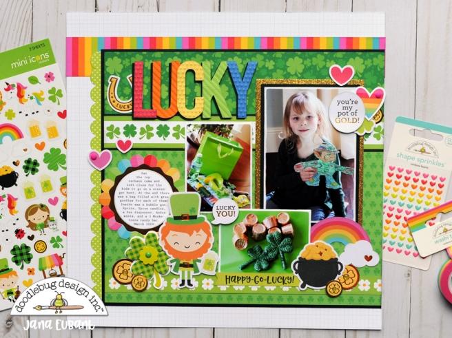 Jana Eubank Doodlebug Lots O Luck Lucky Scrapbook Layout 1 900