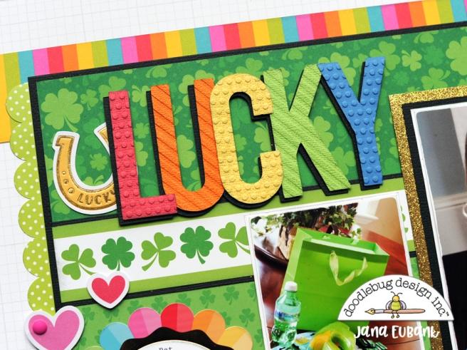 Jana Eubank Doodlebug Lots O Luck Lucky Scrapbook Layout 2 900.jpg