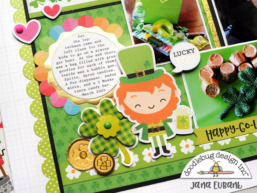 Jana Eubank Doodlebug Lots O Luck Lucky Scrapbook Layout 4 900