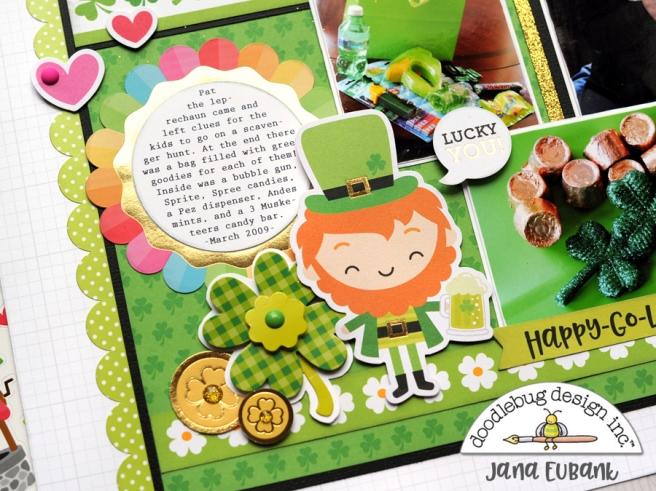 Jana Eubank Doodlebug Lots O Luck Lucky Scrapbook Layout 4 900