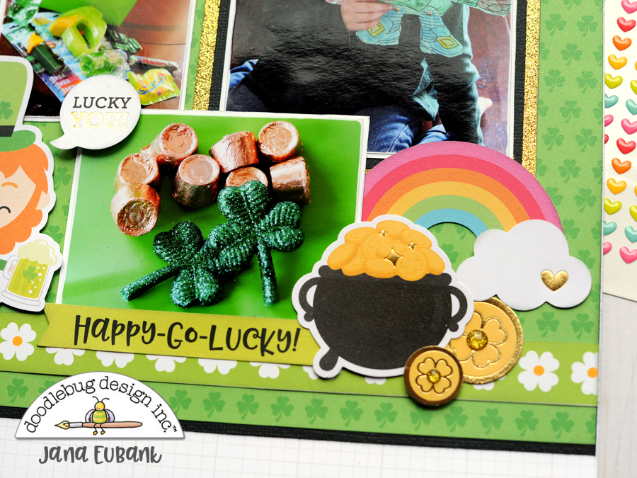 Jana Eubank Doodlebug Lots O Luck Lucky Scrapbook Layout 5 900