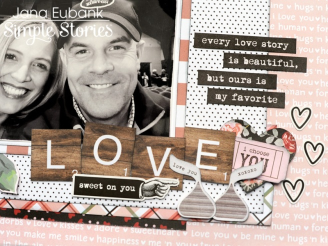 Jana Eubank Simple Stories Kissing Booth Love Scrapbook Page 3 800