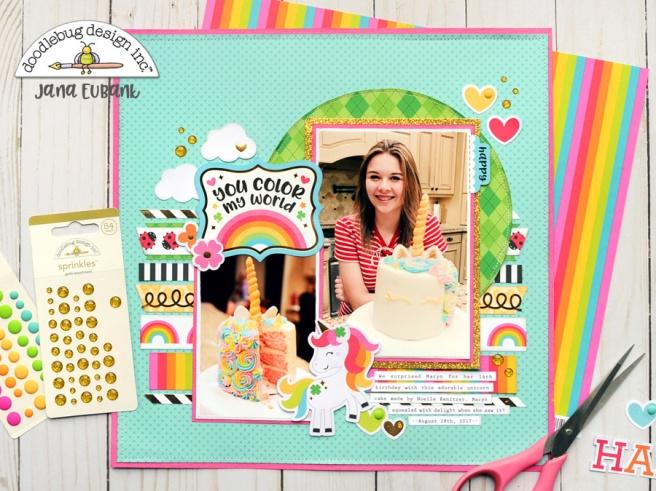 Jana Eubank Doodlebug Lots O Luck Unicorn Cake 1 900