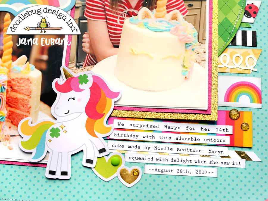 Jana Eubank Doodlebug Lots O Luck Unicorn Cake 4 900