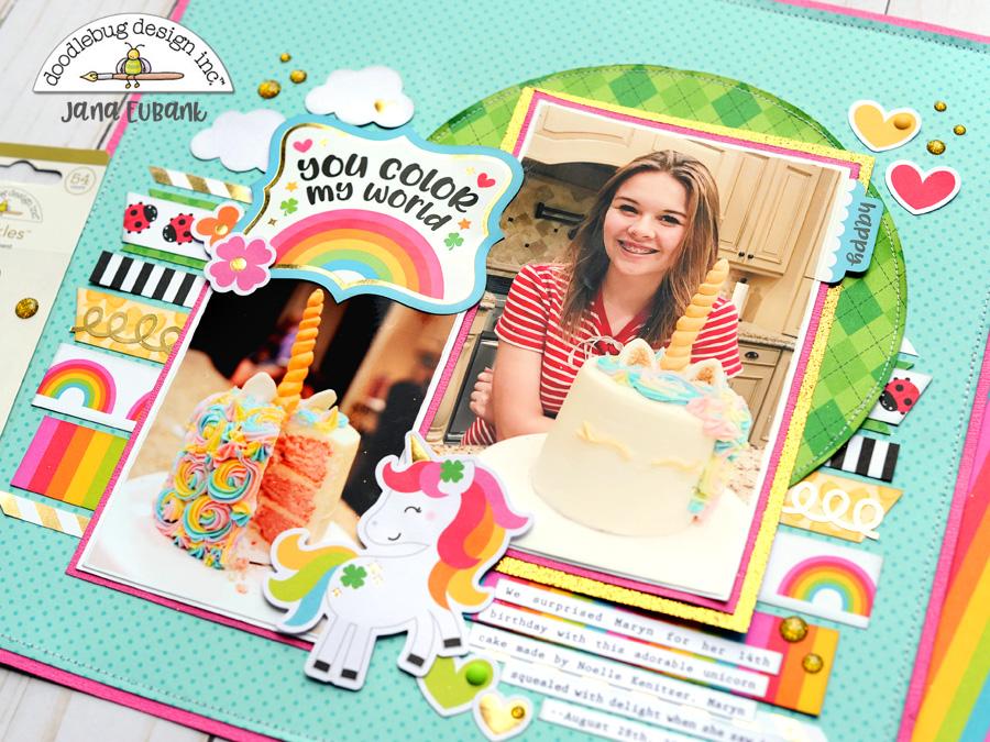 Jana Eubank Doodlebug Lots O Luck Unicorn Cake 5 900