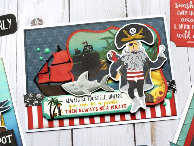 Jana Eubank Echo Park Paper Pirate Tales Card Trio 3 800