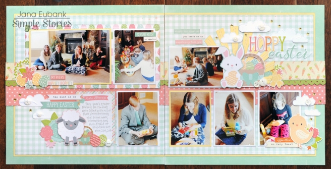 Jana Eubank Simple Stories Bunnies and Baskets Hoppy Easter Layout 1 800