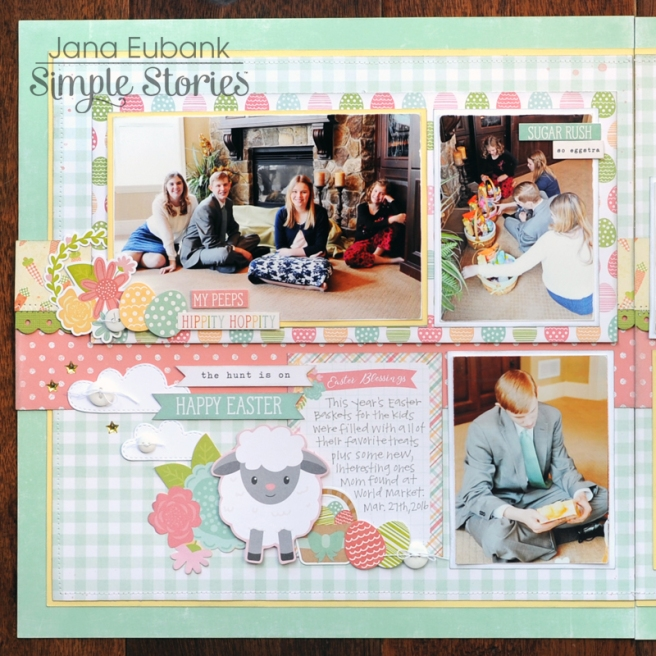 Jana Eubank Simple Stories Bunnies and Baskets Hoppy Easter Layout 2 800