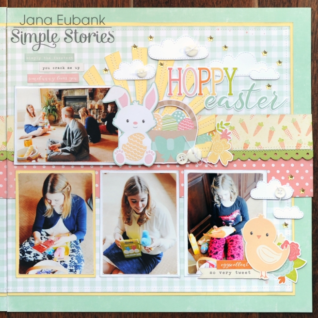 Jana Eubank Simple Stories Bunnies and Baskets Hoppy Easter Layout 3 800