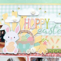 Simple Stories: Hoppy Easter Double-Page Layout