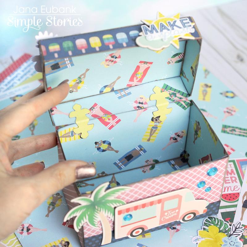 Simple Stories Sunshine and Blue Skies Treasure Box 3 800