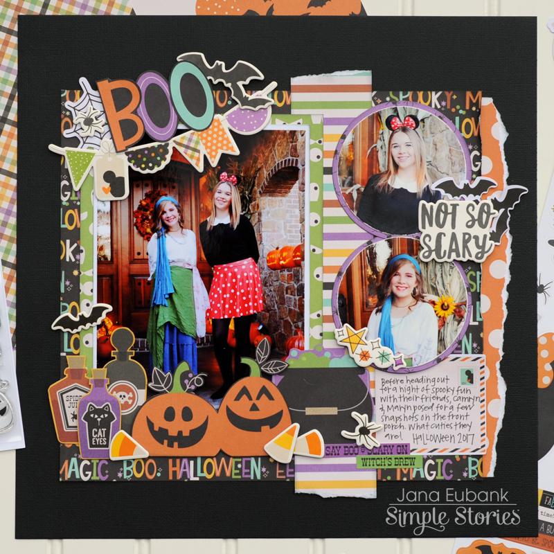 Jana Eubank Simple Stories Say Cheese Halloween Scrapbook BOO 2 Square 800