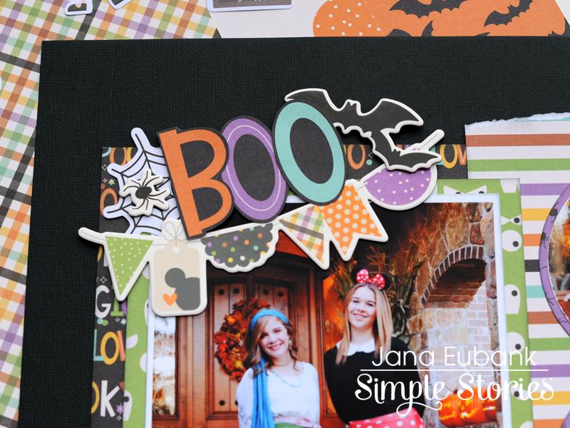 Jana Eubank Simple Stories Say Cheese Halloween Scrapbook BOO 3 800