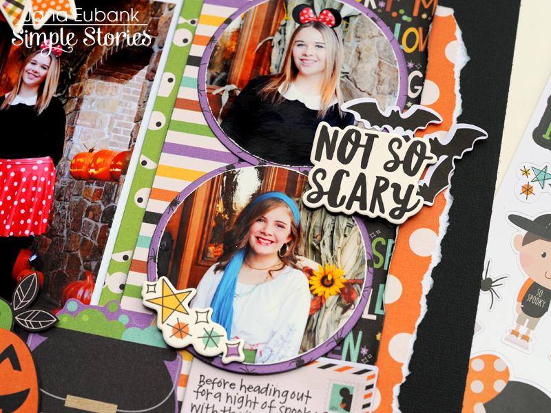 Jana Eubank Simple Stories Say Cheese Halloween Scrapbook BOO 4 800