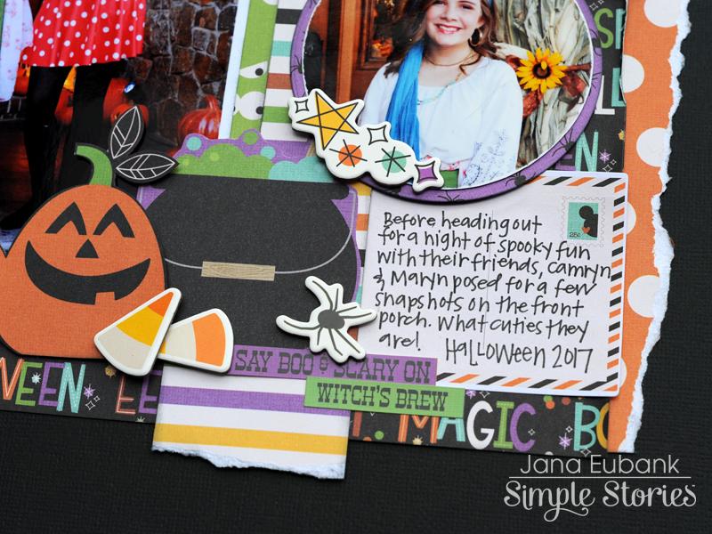 Jana Eubank Simple Stories Say Cheese Halloween Scrapbook BOO 6 800