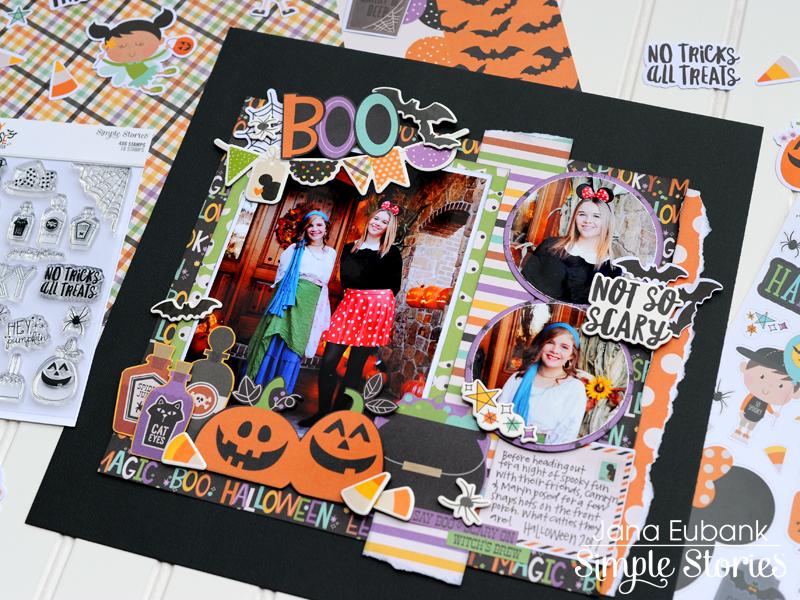 Jana Eubank Simple Stories Say Cheese Halloween Scrapbook BOO 7 800