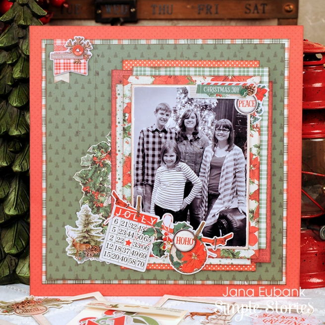 Jana Eubank Simple Stories Country Christmas Layout 2 800