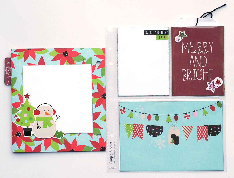 10 Jana Eubank Simple Stories Say Cheese Christmas SNAP Album